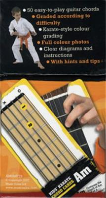 50 Guitar Flash Cards: Kids' Karate Chord Cards