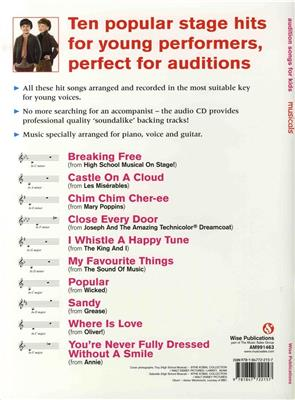 Audition Songs For Kids Musicals Cover