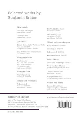 Benjamin Britten: Double Concerto (Study Score)