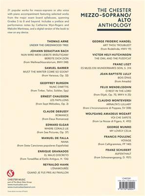 The Chester Vocal Anthology: Mezzo-Soprano/Alto