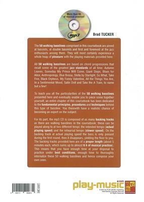Brad Tucker: 50 Walking Basslines (Book/CD)