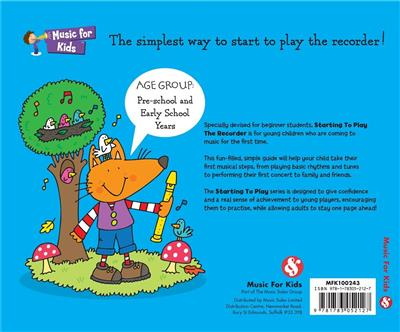 MUSIC FOR KIDS: Starting To Play The Recorder Book And CD