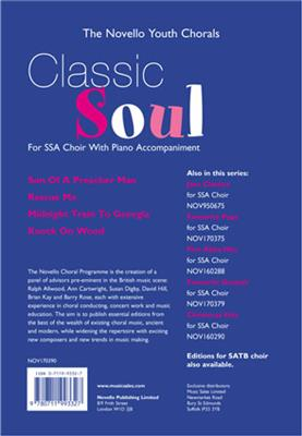 The Novello Youth Chorals: Classic Soul (SSA). Sheet Music