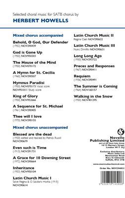 Herbert Howells: Magnificat And Nunc Dimittis - Collegium Sancti Johannis Cantabrigiense