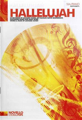 Leonard Cohen: Hallelujah (SSA/Piano). Choral Sheet Music Cover