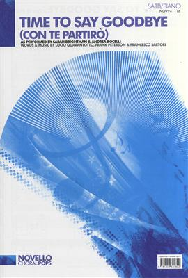 Sarah Brightman/Andrea Bocelli: Time To Say Goodbye (Con Te Partir�) - SATB/Piano Cover