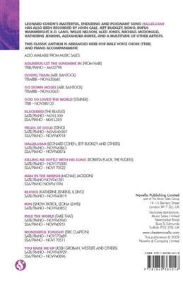 Leonard Cohen: Hallelujah - TTBB/Piano. Choral Sheet Music