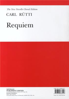Carl R�tti: Requiem (Vocal Score)