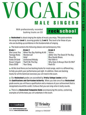 Rockschool Vocals For Male Singers - Level 1 Cover