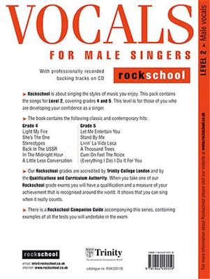 Rockschool Vocals For Male Singers - Level 2