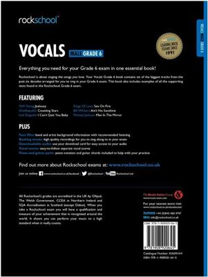Rockschool: Vocals Grade 6 - Male (Book/Audio). Voice Sheet Music, Downloads
