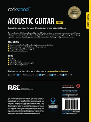 Rockschool Acoustic Guitar - Debut (2016+) (Book/Online Audio)