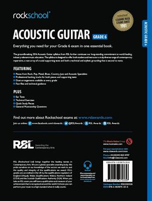 Rockschool Acoustic Guitar - Grade 6 (2016+) (Book/Online Audio)