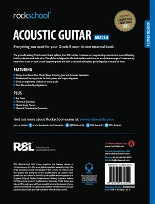 Rockschool Acoustic Guitar - Grade 8 (2016+) (Book/Online Audio)