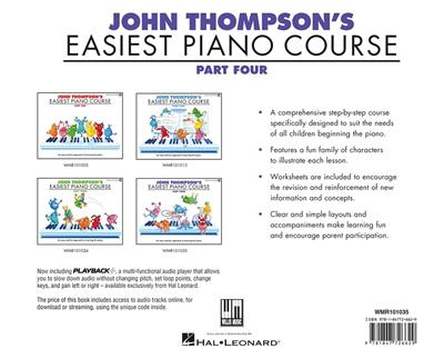 John Thompson's Easiest Piano Course: Part Four (Book And CD)