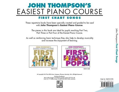 Easiest Piano Course First Chart Songs