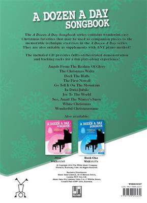 A Dozen A Day Songbook: Christmas - Book Two (Book/CD)