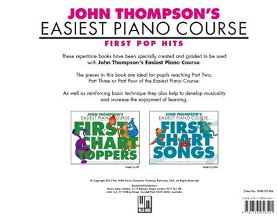 John Thompson's Easiest Piano Course: First Pop Hits