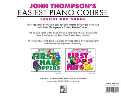John Thompson's Easiest Piano Course: Easiest Pop Songs