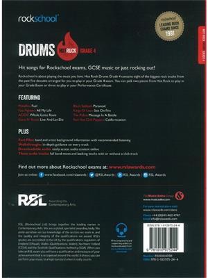 Rockschool: Hot Rock Drums - Grade 4 (Book/Online Audio)