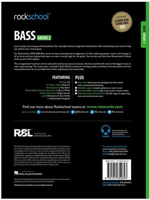 Rockschool: Bass Grade 2 2018+ (Book/Audio)