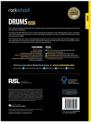 Rockschool: Drums Debut 2018+ (Book/Audio)