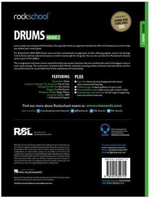 Rockschool: Drums Grade 2 2018+ (Book/Audio)