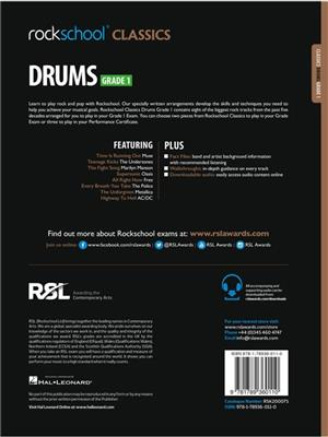Rockschool Classics Drums Grade 1 2018 Book Audio