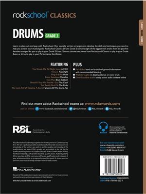 Rockschool Classics: Drums Grade 2 2018+ (Book/Audio)