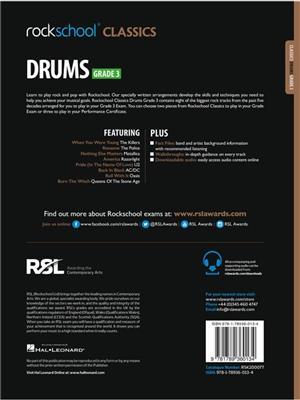 Rockschool Classics: Drums Grade 3 2018+ (Book/Audio)
