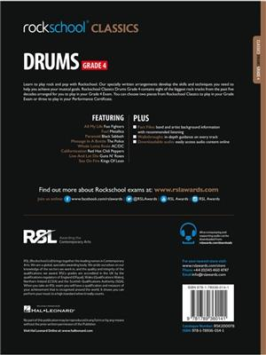 Rockschool Classics Drums Grade 4 2018 Book Audio
