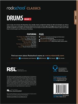 Rockschool Classics Drums Grade 5 2018 Book Audio