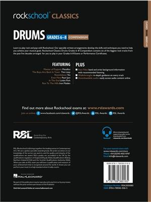 Rockschool Classics Drums Grade 6 8 2018 Book Audio