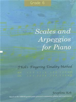 Josephine Koh: Scales And Arpeggios For Piano - Fingering Method (Grade 6) Cover